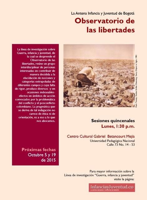 Afiche Observatorio de las libertades